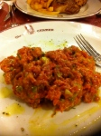 Tartare at Carmen's, a meat restaurant in Toulouse