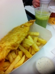 Fish and chips...and mushy peas!