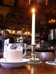nice atmosphere in a brown café