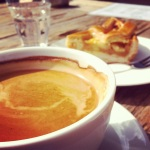 Delicious coffee and Dutch apple tart