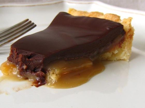 Chocolate Caramel Tart slice